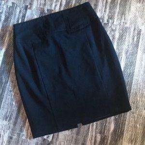 Black express straight career skirt